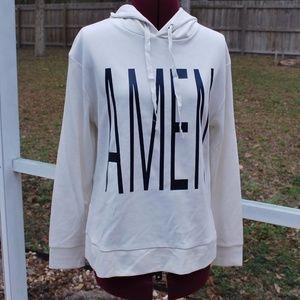 Amen Graphic Hoodie Sweatshirt S, M, L Cream